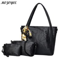 3pcs Set Handbag Women Composite Bags Female Large Capacity Tote Bags Large  Capacity Women Handbags Shoulder Luxury PU Bags 2017 7e69eb55f8