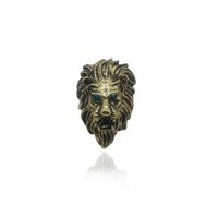 ingrosso anello di cluster d'epoca in bronzo-Anello animale vintage Lion Head Rings Prepotente Blue Eyes Vintage Punk Lion Ring Steampunk Bronze Rings Gioielli da uomo Drop Shipping