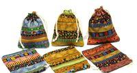 мини-бельевые сумки оптовых-FOLK Белье сумка Drawstring WeddingChristmas Упаковочные мешки Подарочные пакеты Маленькие ювелирные сумки Sachet Mini Jute bags
