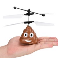 Wholesale remote fly ball resale online - Hand Flying Poop Ball Mini Induction Suspension RC Aircraft Flying Remote Control Toys Drone helicoptero de controle remoto led Flying toys