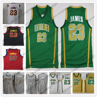 Wholesale High James - High School Irish #23 LeBron James Gray The Land Jersey Kevin Love JR Smith Black Red White 2018 all-star City Edition Basketball Jerseys