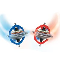 Wholesale Spinning Glow Toys - Magic Colorful Glowing Gyroscope Children Plastic Flying Music Spinning Top Originality Hot Selling Toys On The Stall 5bl W