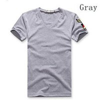 Wholesale Basic White Tee - New Men's Armband V Neck Short Sleeve T-Shirt Slim Fit Casual Basic Tee Shirts
