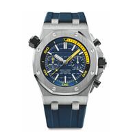 analog kronograf kuvars saatler toptan satış-Lüks erkek saatler Için yeni Yüksek Kalite Kuvars İzle En lüks Renkli İzle Kauçuk Kayış Spor VK Chronograph kol