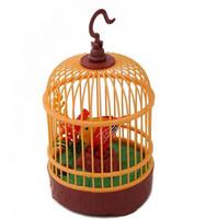 spielzeug vogelkäfig großhandel-Elektrische Sprachaktivierte Vogel Tiere Musik Singen Vogel-Baby-Spielzeug mit Vogelbauer Weihnachtsgeschenk für Kinder