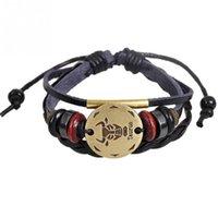 perles pour ficelle de décoration achat en gros de-Multicouche Classique Réglable Sangle PU Adorable Corde Perles Décoration Bracelet Bijoux Cadeau