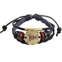 бисер для украшения строки оптовых-Multilayer Classic Adjustable PU Strap Adorable String  Decoration Bracelet Jewelry Gift