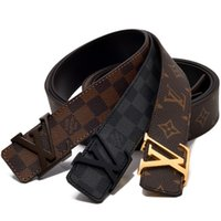 Wholesale ceinture genuine leather - 912 New Fashion Mens Business Belts Luxury Ceinture Automatic Buckle Genuine Leather Belts For Men Waist Belt Free Shipping.
