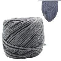 x askı toptan satış-Makrome Kordon Gri 4mm X 100 m Bakire Pamuk El Yapımı Süslemeleri Makrome Bitki Askı Crocheting Bohemia Rüya Yakalayıcı DIY Zanaat Örme