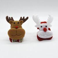 plush snowman großhandel-Weihnachtsmann Armband Schneemann Elch Armband Kinder Geschenke Frohe Weihnachten Thema Kinder Armreif Fsoft Plüsch Touch 0 65kp ZZ