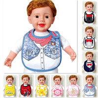 Wholesale cloth mouth - Cartoon Printing Baby Burp Cloths Pure Cotton Infant Bibs Toddler Mouth Water Towel Many Styles