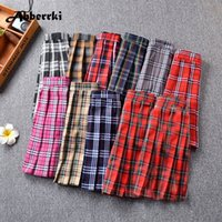 Wholesale plus size girls uniforms - Harajuku Cosplay Women High Waist Cute Pleated Skirt Plus Size England Plaid Sexy Mini Skirt School Girl Uniforms Saias