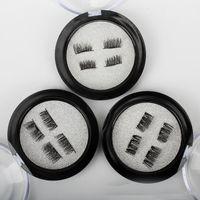 Wholesale true hair online - Hot Sale set D Magnetic False Eyelash Magnet False Eyelashes Directly Adsorbed on True Eyelashes Magnetic Eye Lashes Makeup Kit Gift