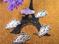 Wholesale sports car charm for sale - Group buy 75pcs Sports Car Charms Antique Tibetan silver Sports Car Charms Pendant x14mm