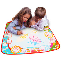 Wholesale play mat set - Baby Kids Add Water with Magic Pen Doodle Painting Picture Water Drawing Play Mat Paper in Drawing Intelligence Toys Board