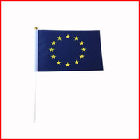 Wholesale Flag Stockings - The European Union flag,14*21cm flag have stock and free shipping,small size flag factory directly