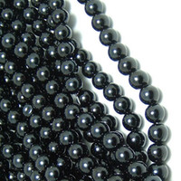 Wholesale cheapest wholesale jewelry - CHEAPEST SMOOTH BLACK 4 SIZES ROUND GLASS PEARL BEADS FOR JEWELRY MAKING 4mm 6mm 8mm 10mm