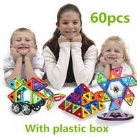 sipariş plastik kutular toptan satış-Standart boyutu manyetik yapı taşları Model Oyuncaklar Tuğla tasarımcı Enlighten plastik kutu ile Fabrika Toptan Sipariş 28-60 Adet / takım Veya Daha Fazla