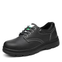 segurança industrial venda por atacado-Tampão de dedo do pé de aço elegante industrial confortável das sapatas de segurança da construção das sapatas de segurança do tipo do couro genuíno