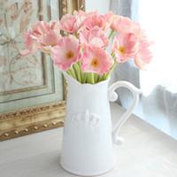 berühren möbel großhandel-8 stücke Seide Gefälschte Mohn Blume Wohnmöbel Simulation Lebendige Schöne Real Touch Blumen Für Hochzeit Tisch Dekorative