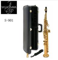 Wholesale straight soprano saxophone for sale - Group buy Straight Japan YANAGISAWA S Soprano Saxophone High Quality Yanagisawa Straight B flat Sax Musical