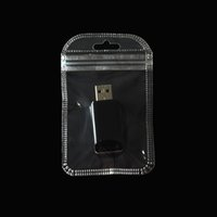 Wholesale small hanging plastic bags resale online - 200pcs cm Small Gift Packaging Clear Plastic Bags Transparent Zipper Poly Bag for Earring Ring Packing Pouch with Hang Hole