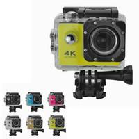 sport-helm-action-videokamera groihandel-Günstigste 4K Sport Action Kamera F60 WIFI Wasserdichte Videokamera 16MP / 12MP 1080P 60FPS 2,0 Zoll LCD Helm Cam Diving Recorder