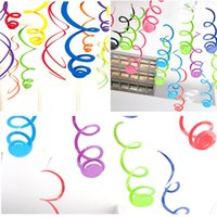 Wholesale ceiling decorations for parties - 90cm Ceiling Hanging Foil Swirl Decoration Metallic For Wedding Christmas Halloween Birthday Party Decoration Free Shipping ZA5818