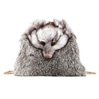 ingrosso borse frizione pelliccia-2018 New Style Pelliccia Borse da donna Inverno Borsa a tracolla Borsa di pelliccia Borsa a tracolla per signora Faux Fox Tote clutch 763
