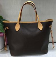 4ddfbafaa9c8 2018 Hot Sale NF Handbag real Genuine Leather bag shopping bag shoulder  handpick mother bag Brand Neverf Ebene GM Purse