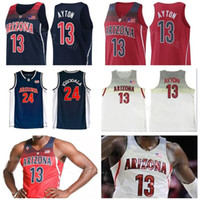 6eb80b25e NCAA Arizona Wildcats 13 Deandre Ayton Jersey Navy Blue Red White College  Basketball 24 Andre Iguodala University Stitched Man Size S to XXL