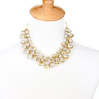 большое ожерелье застежки оптовых-Uer 2018 New Simulated Pearls Magnetic Clasp Maxi Big Necklace Wholesale Jewelry Fashion Choker Necklace xl01071a