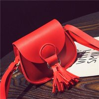 Wholesale Messenger For Ladies - Fashion Tassel Women Messenger Bags Female Handbags Famous Brand PU Leather Shoulder Crossbody Bags For Women Small Flap Bag Sac