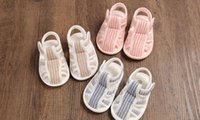 Wholesale Pink Infant Sandals - 2018 New Baby Shoes Summer Baby Cloth Sandals Soft Slip 0-1 Infant Toddler Shoes Sneakers