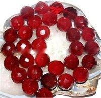 perles rondes de rubis achat en gros de-Perle naturelle à facettes de 10 mm de rubis rouge à facettes naturelles 15