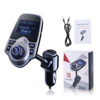 kablosuz stereo vericisi toptan satış-Meslek Kablosuz In-Araba MP3 Çalar Bluetooth FM Verici Radyo Adaptörü Araç Kiti Siyah USB Ücretsiz Kargo