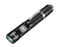 ingrosso la luce luminosa ha condotto la mini torcia-Torcia tattica Super Bright 1100 Lumens Cree LED a prova di acqua torcia con 18650 batteria inclusa, ricaricabile con USB 5 modalità luce A3