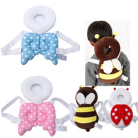 Wholesale kids head pillow - Baby Head Protection Pad Toddler Headrest Pillow kids Neck Cute Wings Nursing Drop Resistance Cushion without Reinforcing belt C3492