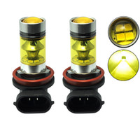 Wholesale h8 bulb yellow for sale - Group buy 2X H11 H8 K Yellow Amber W LED SMD Projector Fog Driving Running Light Bulb For Auto Car Styling