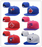 desenho de folhas vermelhas venda por atacado-Boa Venda Toronto Mens Snapback Chapéus Com Cor Vermelha Folha de Esportes Plana de Beisebol Design Ajustável Caps Ossos