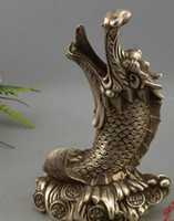 Wholesale led safe lights online - Antique brass collection feng shui ornaments silver plated boutique leading fish Qingyun straight on the exclusive Shantou