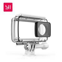 xiaomi orijinal aksesuarlar toptan satış-100% Orijinal Xiaomi YI Su Geçirmez Kılıf Dalış 40 m Su Geçirmez Xiaomi YI 4 K Eylem Kamera 2 için, Yi Kamera II Aksesuarları