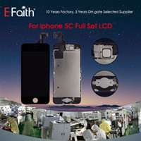 Wholesale iphone 5c buttons - For iPhone 5C Grade A+++ With Home Button and Front Camera Black LCD Screen Display Digitizer Assembly With Accessories & Free DHL Shipping