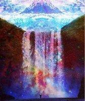 живопись картины водопад оптовых-Полный квадрат/раунд дрель 5D DIY Алмаз живопись