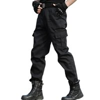 черные шорты оптовых-Tactical Trousers Cargo Pants Men  Work Clothes Homme Special Forces SWAT Army Combat Trouser Cheap Black Pants Thin