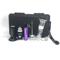 Wholesale new innovative - innovative new version wax vape pen with 2500mah battery ceramic nail Glass bong attachment For wax G9 henail plus e cig starter kit
