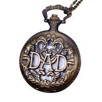 enviar relojes de época al por mayor-Timezone # 302 Vintage Chain Retro The Greatest collar de reloj de bolsillo para el abuelo Dad Gifts2 envío gratis