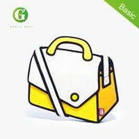 çanta tuval 3d toptan satış-Toptan- fabrika toptan kadın ve erkek 2d 3d karikatür postacı çantası gismo karikatür çanta kanvas omuz çantası ücretsiz nakliye