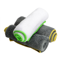 Wholesale car wash waxing online - 37 cm Car Wash Towel Auto Care Detailing for Car Wax Polish Cleaning Tool Ultra Soft Microfiber Cloth
