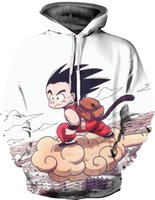 Wholesale anime tracksuit - Fashion Pullover Anime Hoodies Dragon Ball Z Son Goku D Printing Streetwear Long Sleeved Winter Men Women Casual Jacket Tracksuit WY269